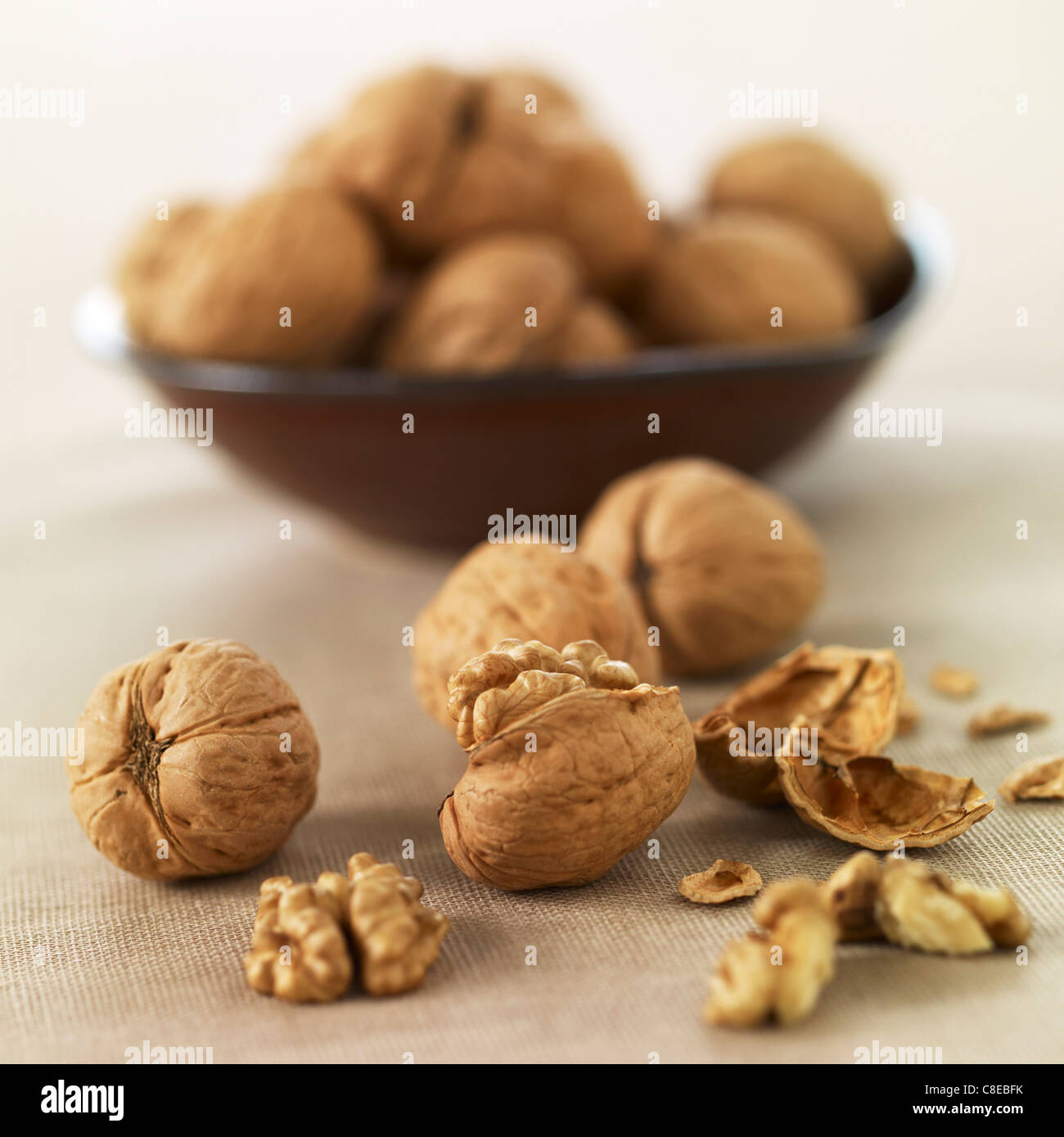 Walnuts - Stock Image