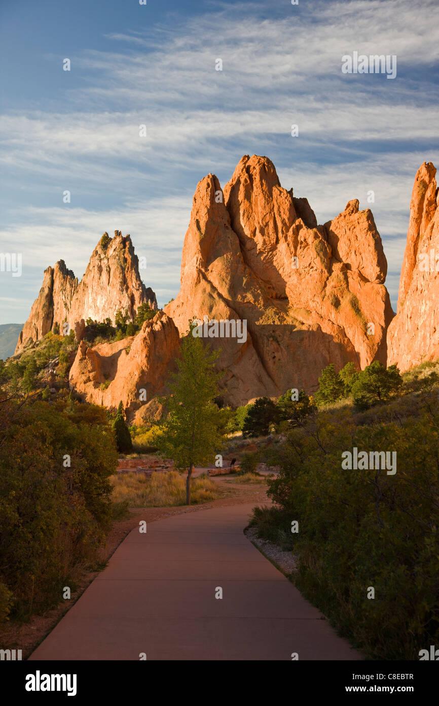 South Gateway Rock, Garden of the Gods. National Natural Landmark, Colorado - Stock Image