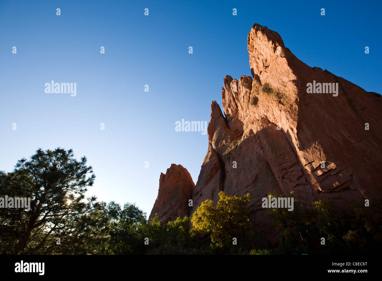 South Gateway Rock, Garden of the Gods. National Natural Landmark, Colorado - Stock Image
