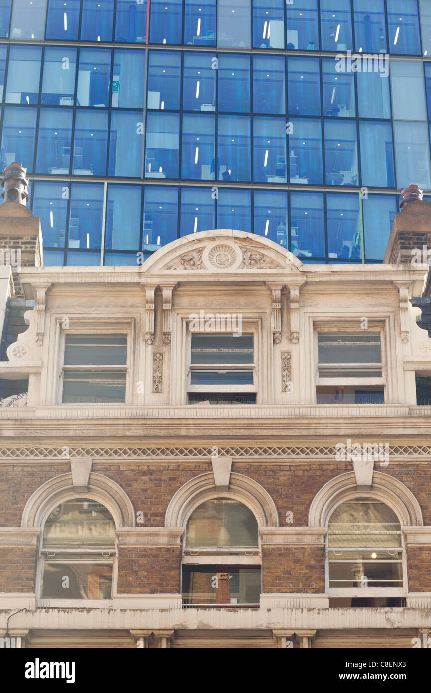 London City Liverpool street old and new Office buildings - Stock Image