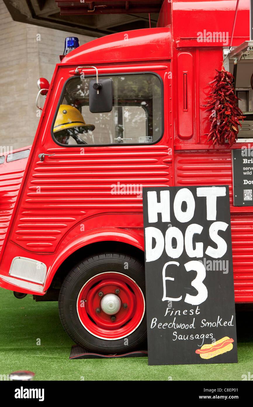 Hot Dogs £3 (Citroen H Van) Stock Photo