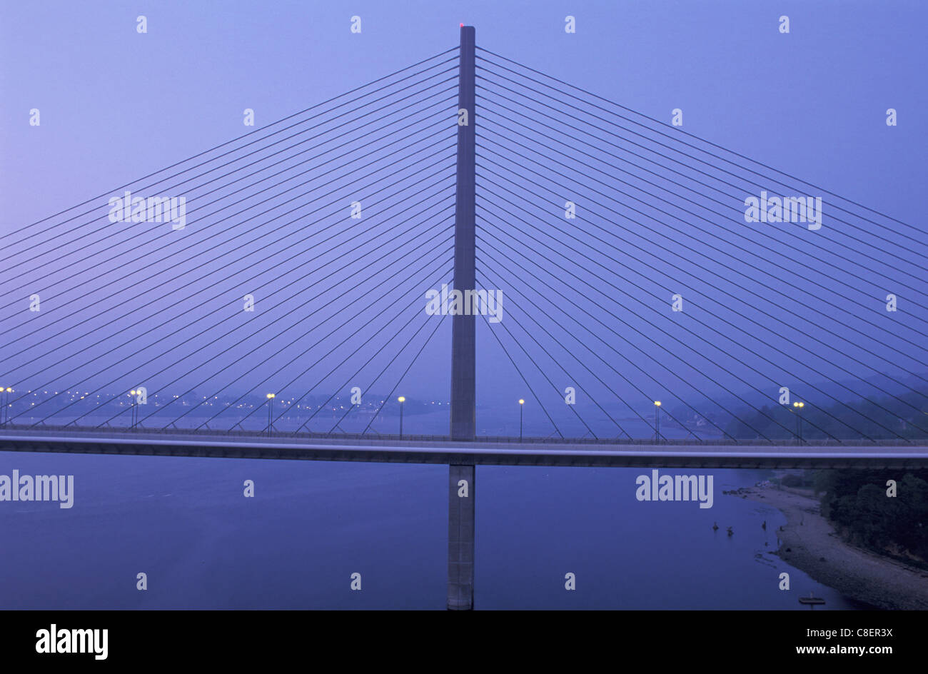 Bridge, Pont Loupe Brest, Brittany, Bretagne, France, Europe, suspension bridge - Stock Image