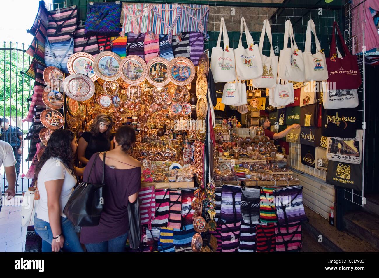 Mercado de Dulces, Morelia, Michoacan state, Mexico - Stock Image