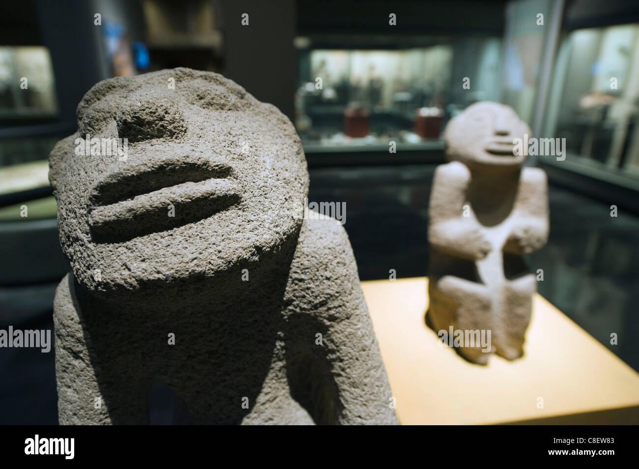 Mayan artefacts, Museo Nacional de Antropologia (Anthropology Museum, District Federal, Mexico City, Mexico - Stock Image