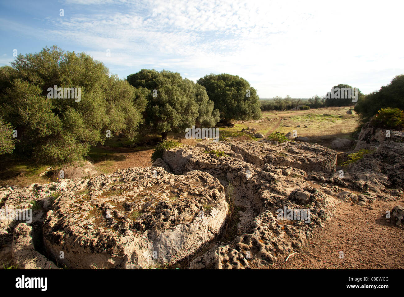 The ancient quarries of Cusa, Sicily, Italy - Stock Image