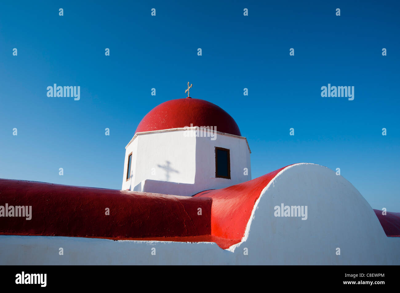 Panagia Tourliani Monastery, Ano Mera, Mykonos, Cyclades, Greek Islands, Greece Stock Photo