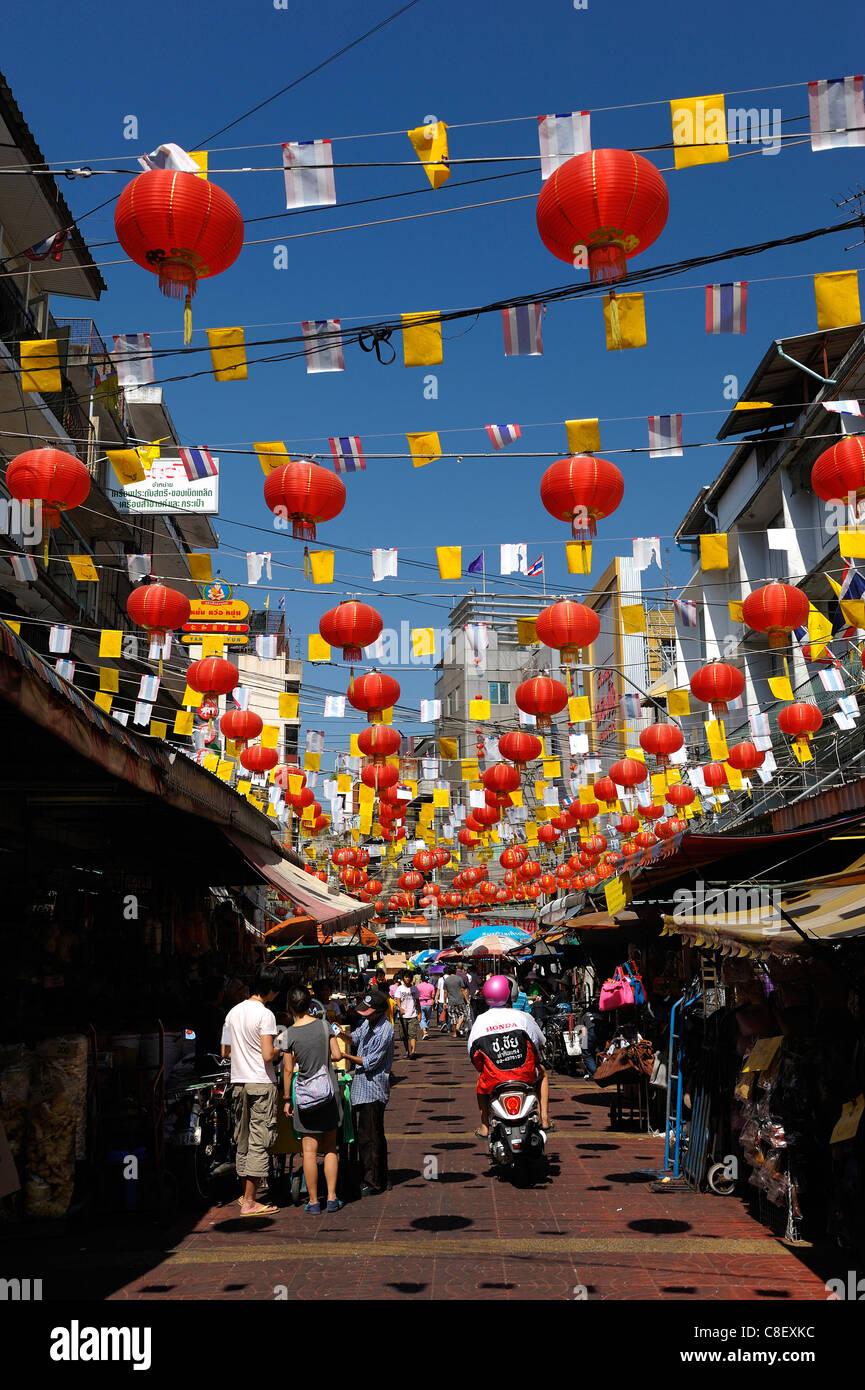 Chinatown, Bangkok, Thailand, Asia, Chinese, Lantern, street
