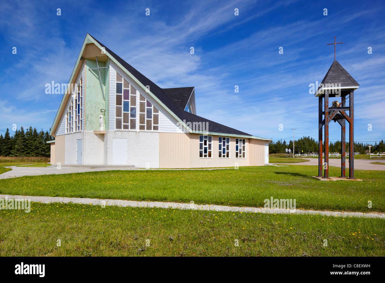 Eglise Marie Mere de l'Eglise, Aguanish, Quebec, Canada Stock Photo