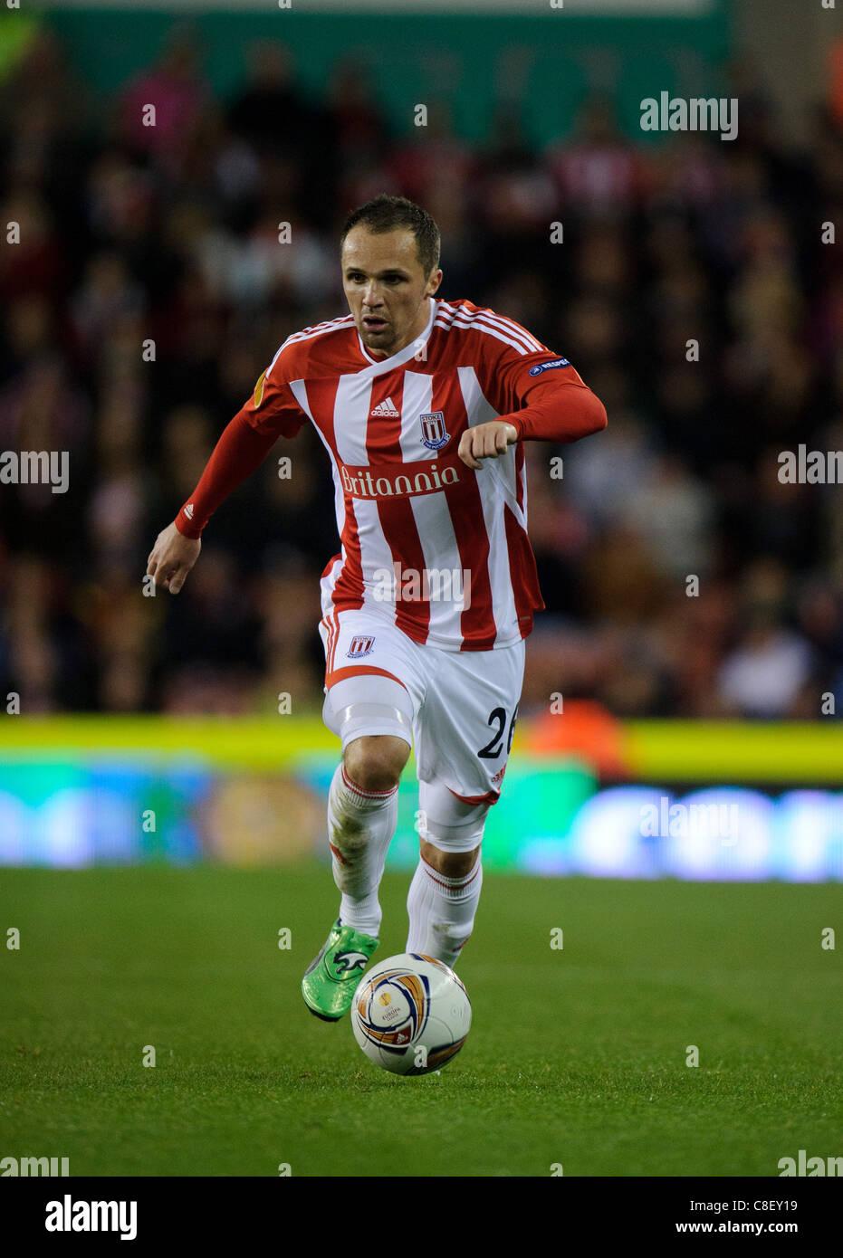 Matthew Etherington of Stoke City - Stock Image