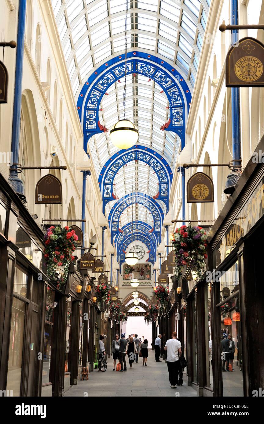 Interior of Thorntons Arcade, Leeds, West Yorkshire, England, United Kingdom - Stock Image