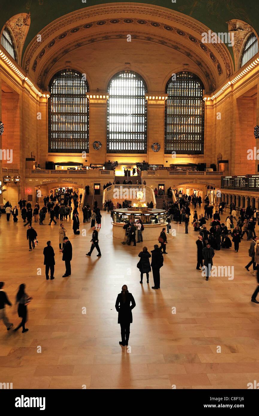 Grand Central Station, Terminal, 42nd street, Manhattan, New York, USA, United States, America, inside - Stock Image