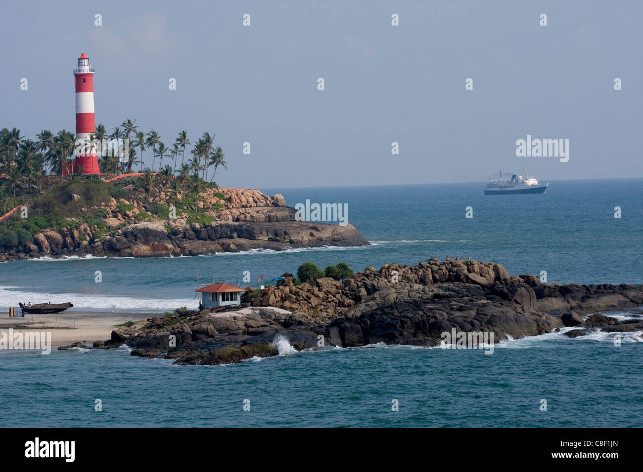 Lighthouse, Vizhinjam, Trivandrum, Kerala, India - Stock Image