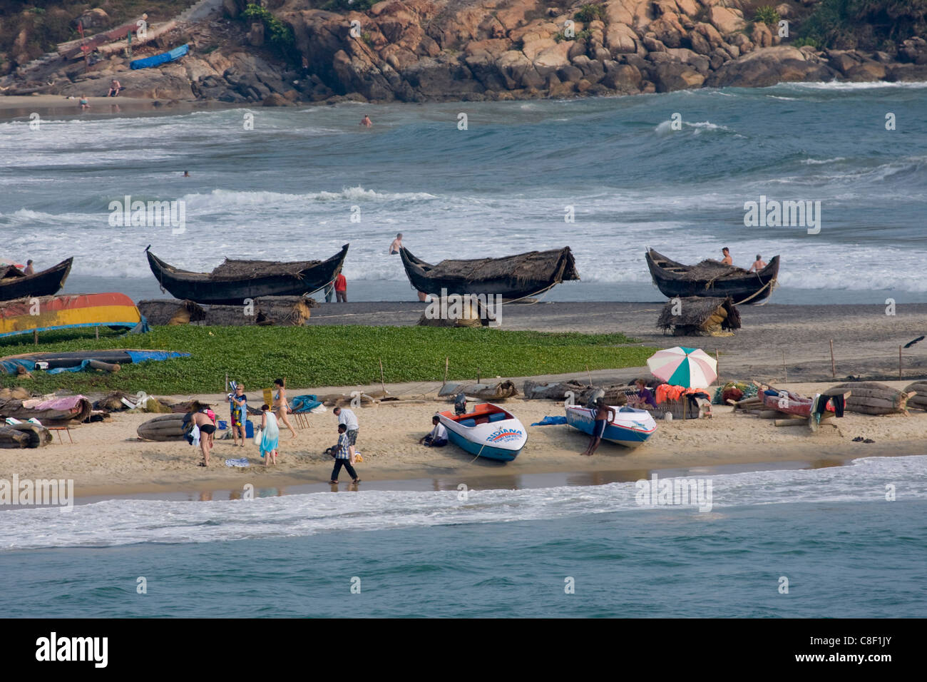 Vizhinjam beach, Trivandrum, Kerala, India - Stock Image