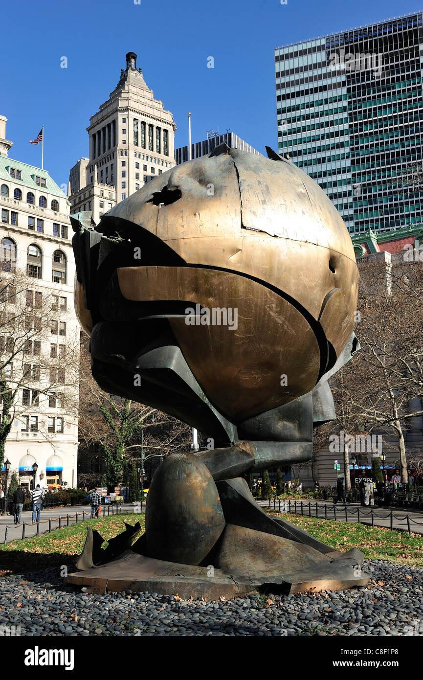 9 11, Memorial, Battery, Manhattan, New York, USA, United States, America, Ground Zero - Stock Image