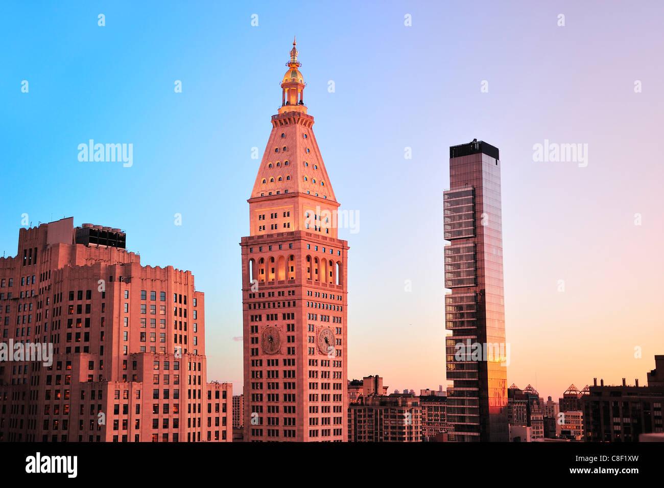 Metropolitan, Life Insurance, Company, Met, Building, Manhattan, New York, USA, United States, America, - Stock Image