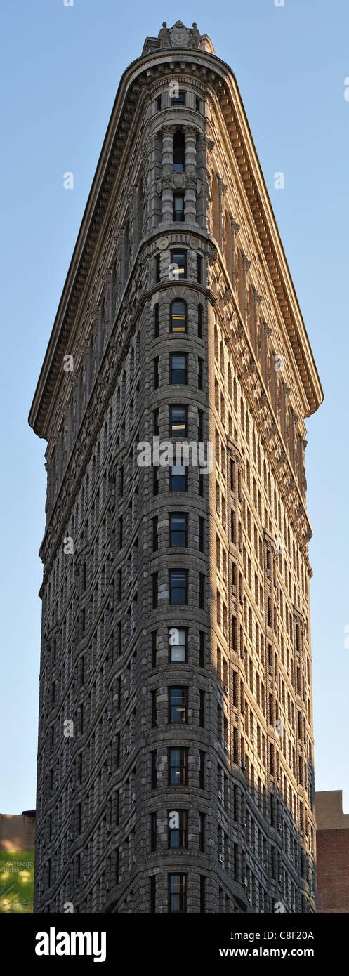 Flatiron, Building, New York, USA, United States, America, architecture - Stock Image