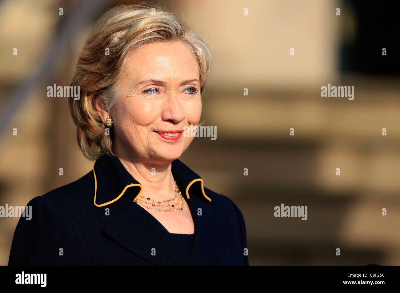 United States Secretary of State Hillary Clinton during her visit to Ireland - Stock Image