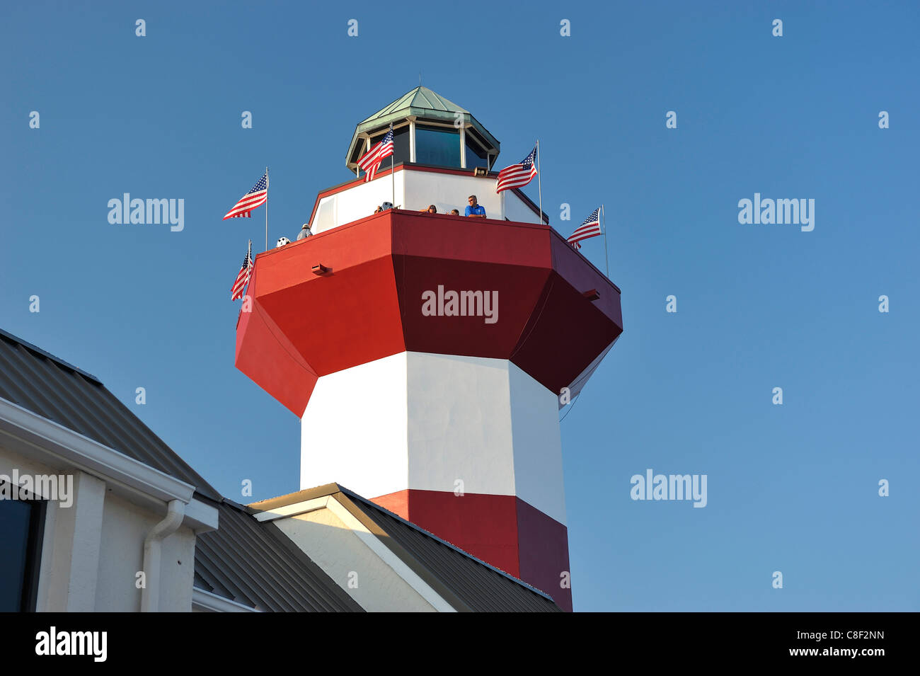 Lighthouse, Harbour Town, Sea Pines Plantation, Hilton Head Island, South Carolina, USA, United States, America, - Stock Image
