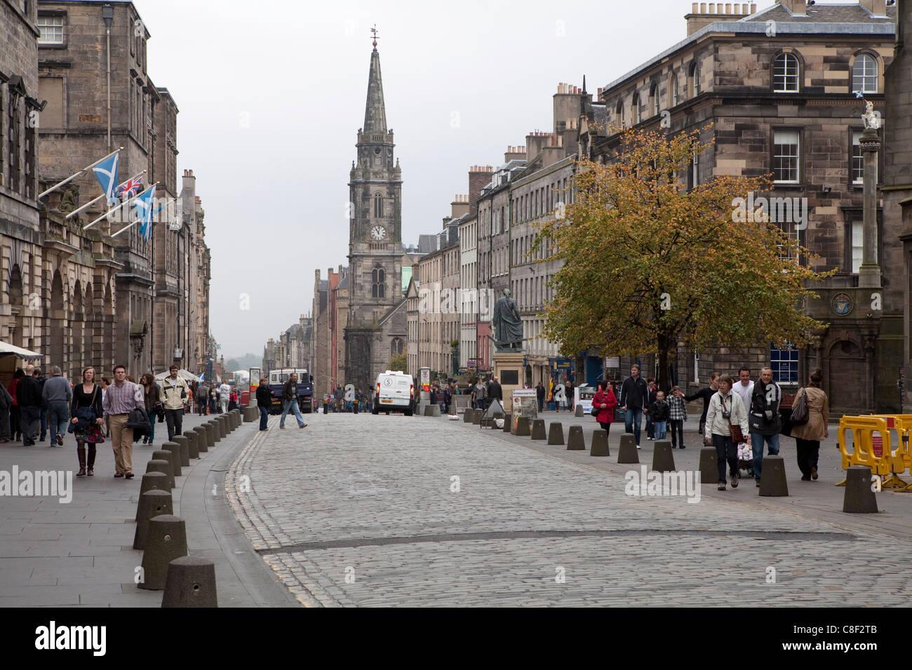 Royal Mile, The Old Town, Edinburgh, Scotland, United Kingdom - Stock Image