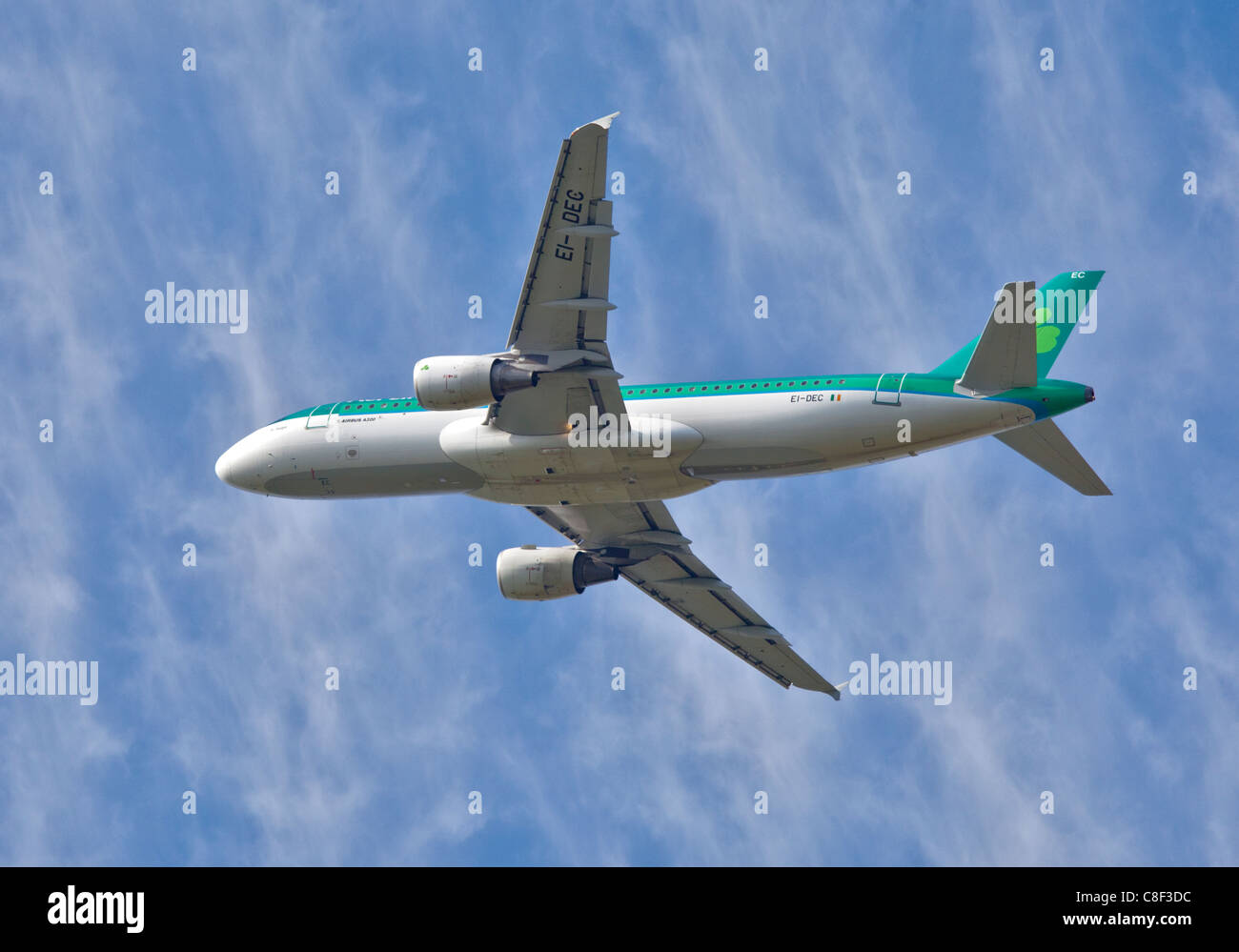 Aer Lingus Airbus A320, Gatwick Airport, Sussex, England - Stock Image