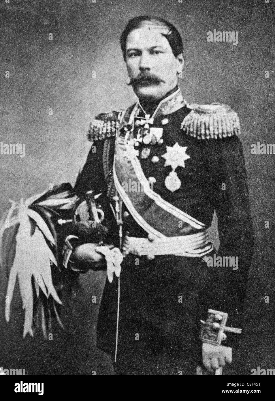 GENERAL EDUARD TOTLEBEN (1818-1884) Baltic German military engineer and general in the Imperial Russian Army - Stock Image