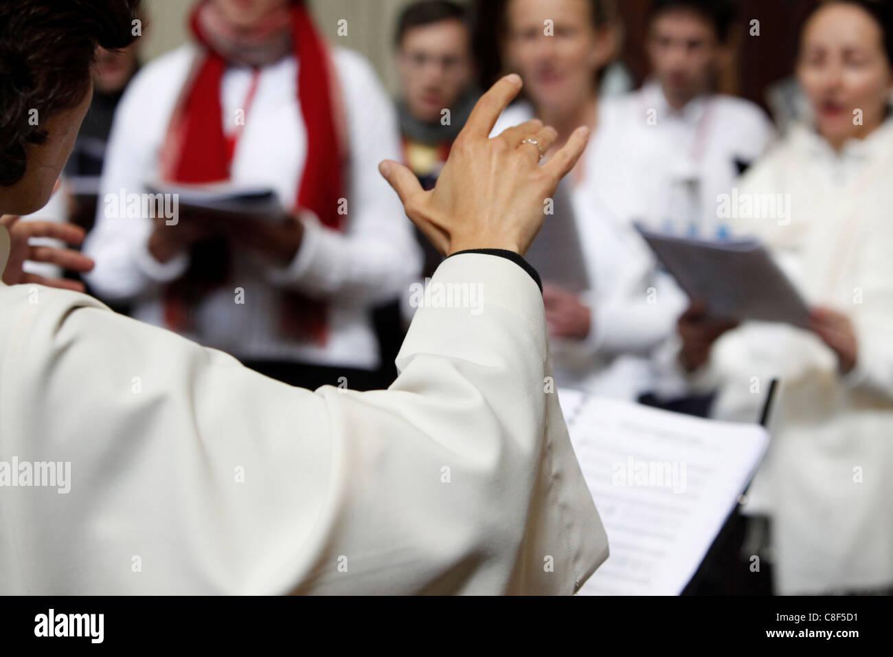 Choir in San Filippo Neri church, Turin, Piedmont, Italy - Stock Image