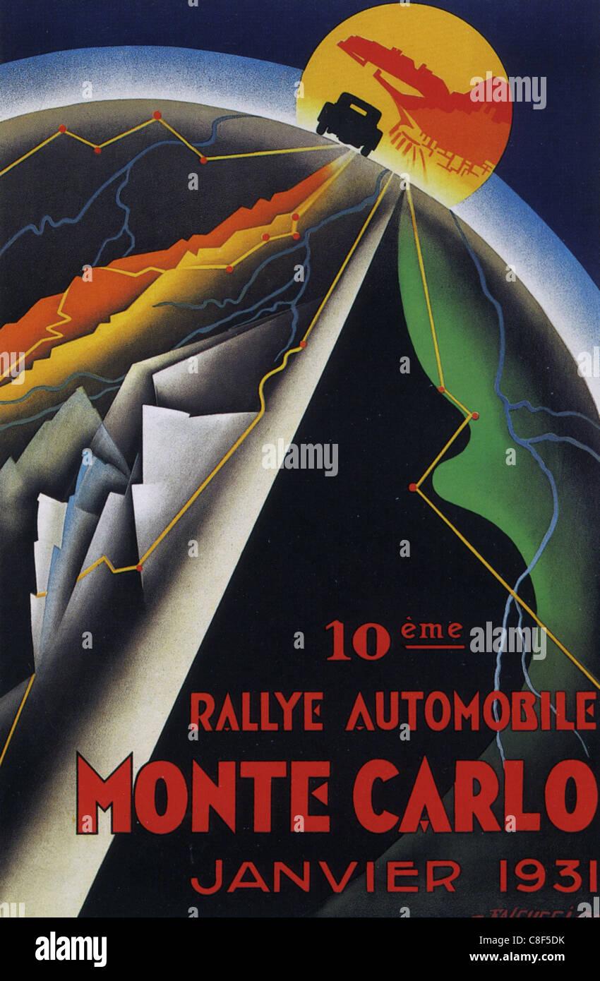 MONTE CARLO RALLY 1931 - Stock Image