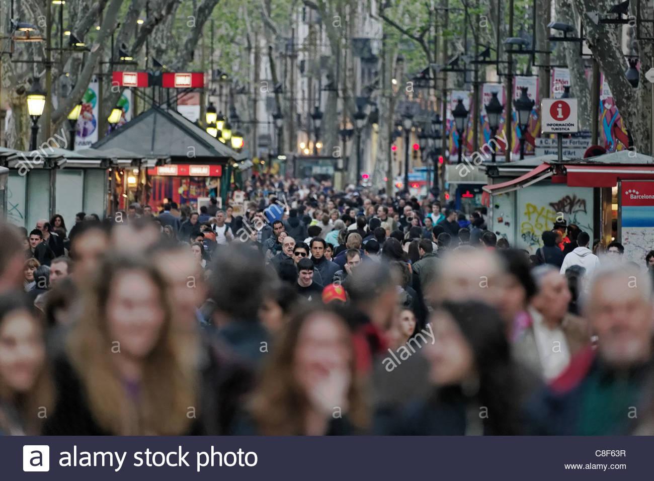 Barcelona's Rambla de Catalunya neighborhood. - Stock Image