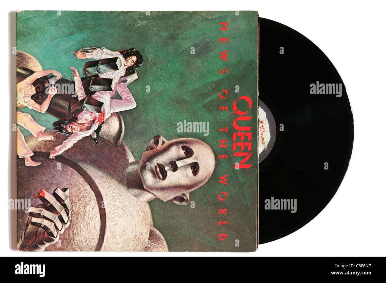 Queen News of the World album - Stock Image