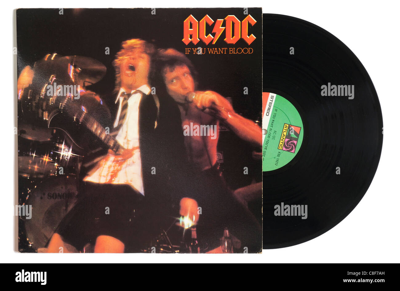 AC/DC If You Want Blood album - Stock Image