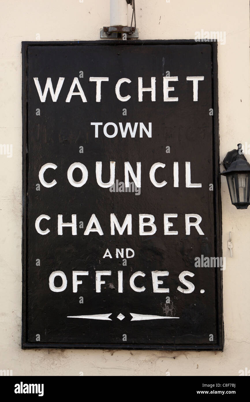 Watchet Town Council Chamber of Offices - Stock Image