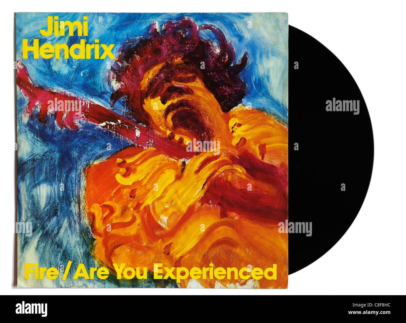 Jimi Hendrix Fire 12' single - Stock Image