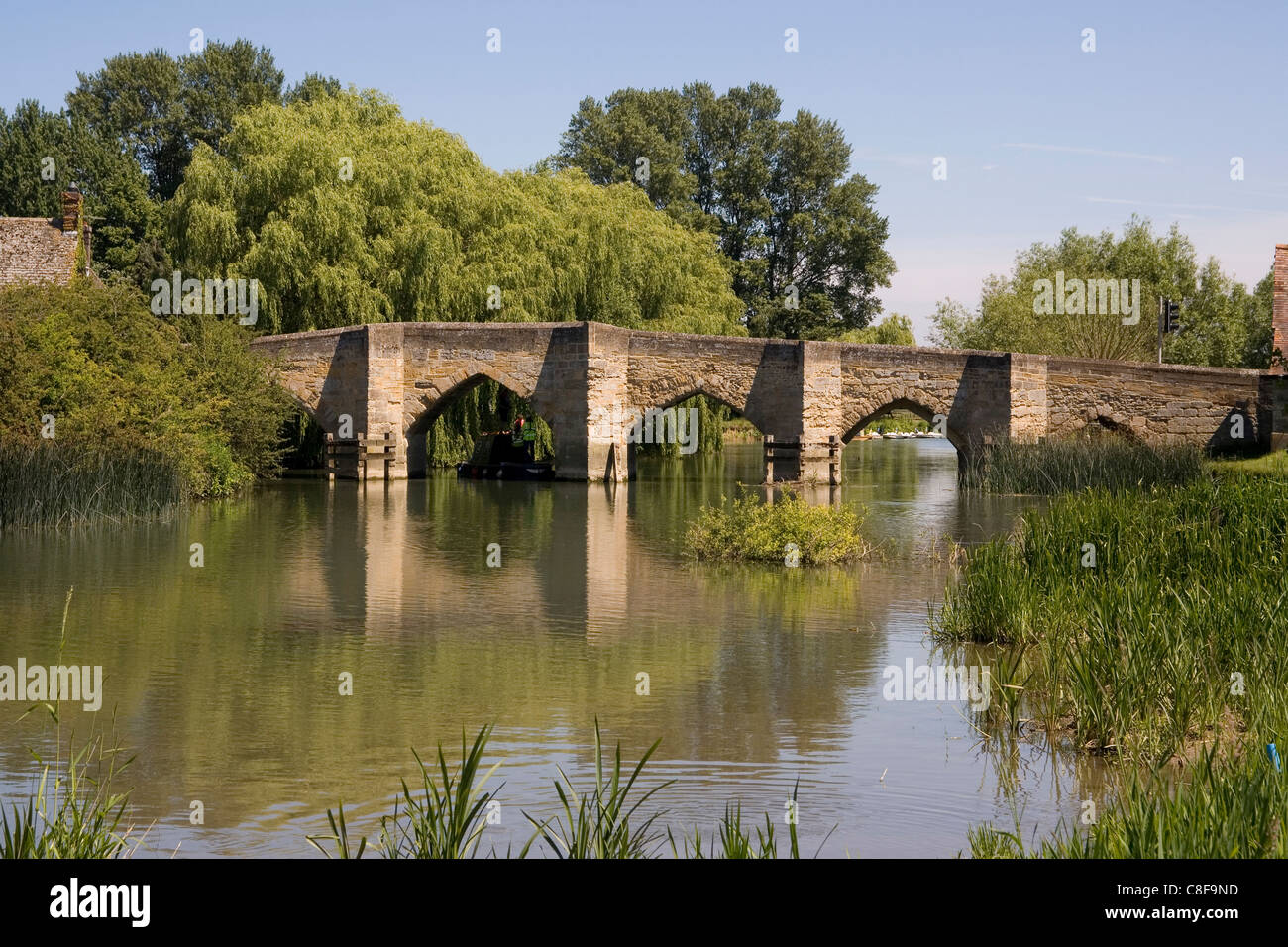 Newbridge, arguably the oldest bridge on the River Thames, built in the 13th century, Oxfordshire, England, United - Stock Image