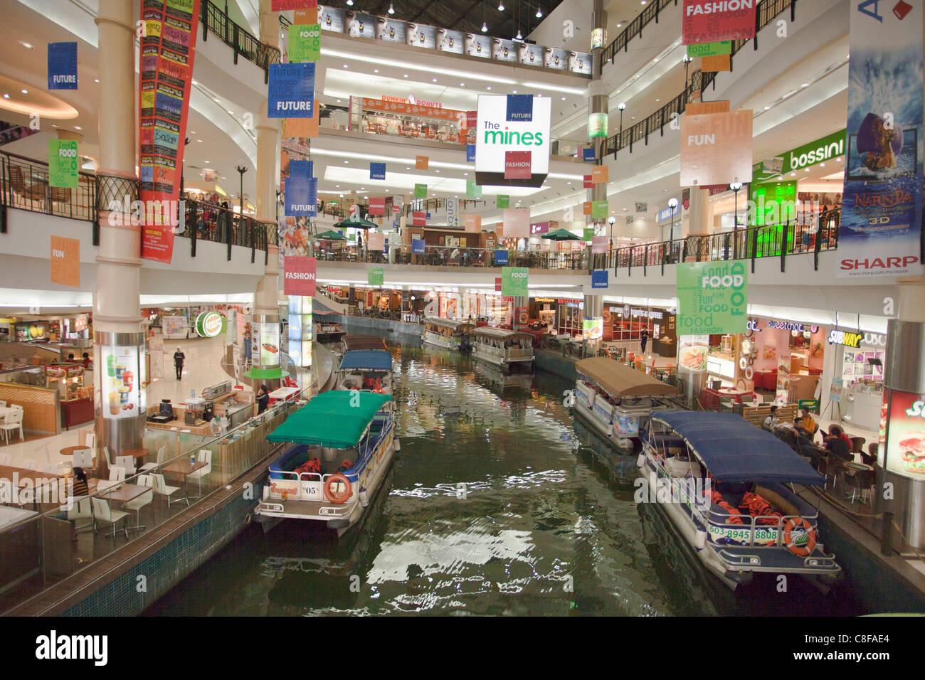 Malaysia, Asia, Kuala Lumpur, shopping centre, river, flow, buy, shopping, shops, dealings, Food, shops, shopping - Stock Image