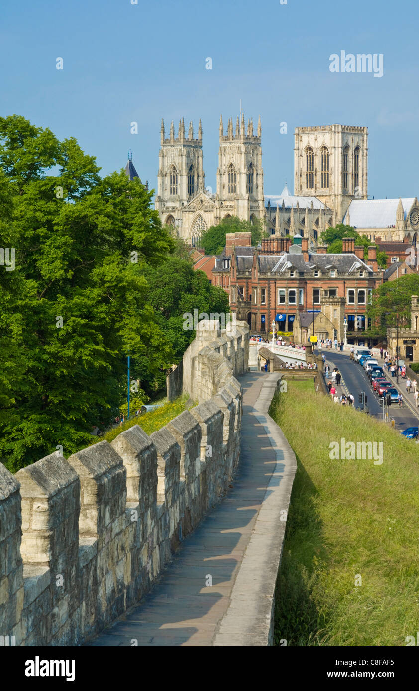 York Minster, northern Europe's largest Gothic cathedral, York, Yorkshire, England,UK - Stock Image