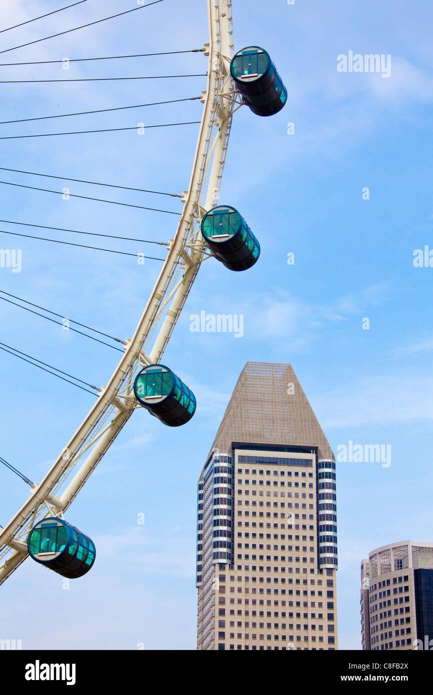 Singapore, Asia, big dipper, detail, cabins, town, city, pleasure - Stock Image