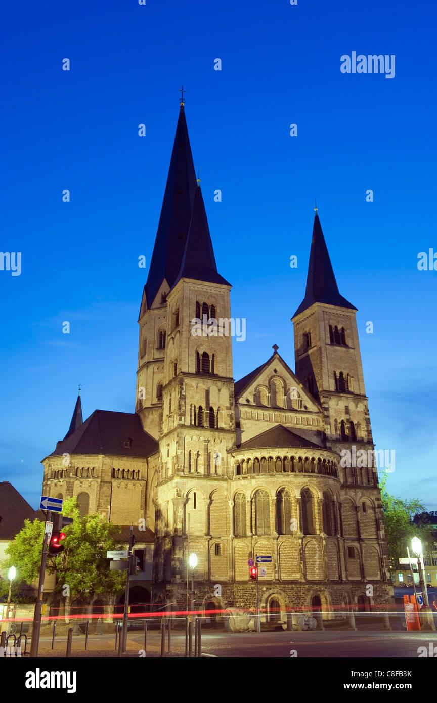Bonn Cathedral, Bonn, North Rhineland Westphalia, Germany - Stock Image