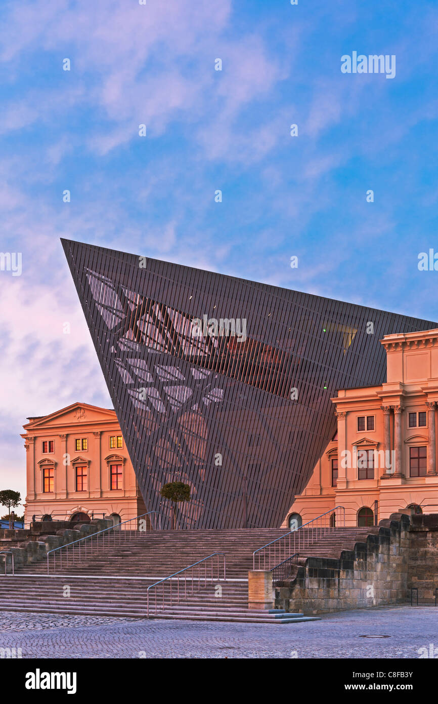 The Military Historical Museum of the Bundeswehr (MHM) in Dresden, Saxony, Germany, Europe Stock Photo