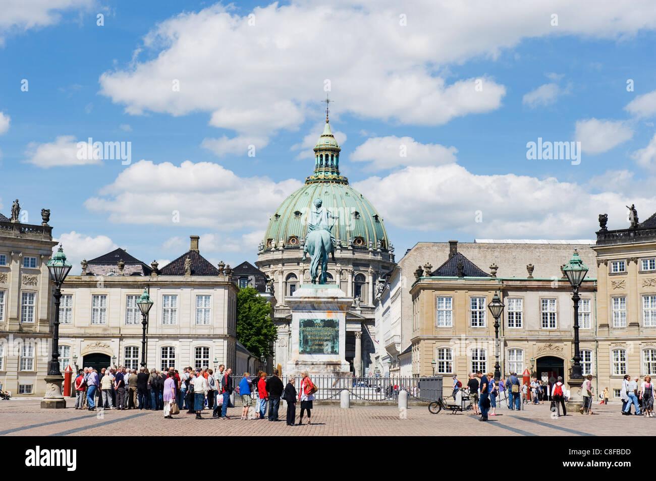 Frederikskirken Church (Marmorkirken, Amalienborg Palace, home of the royal family, Copenhagen, Denmark, Scandinavia - Stock Image