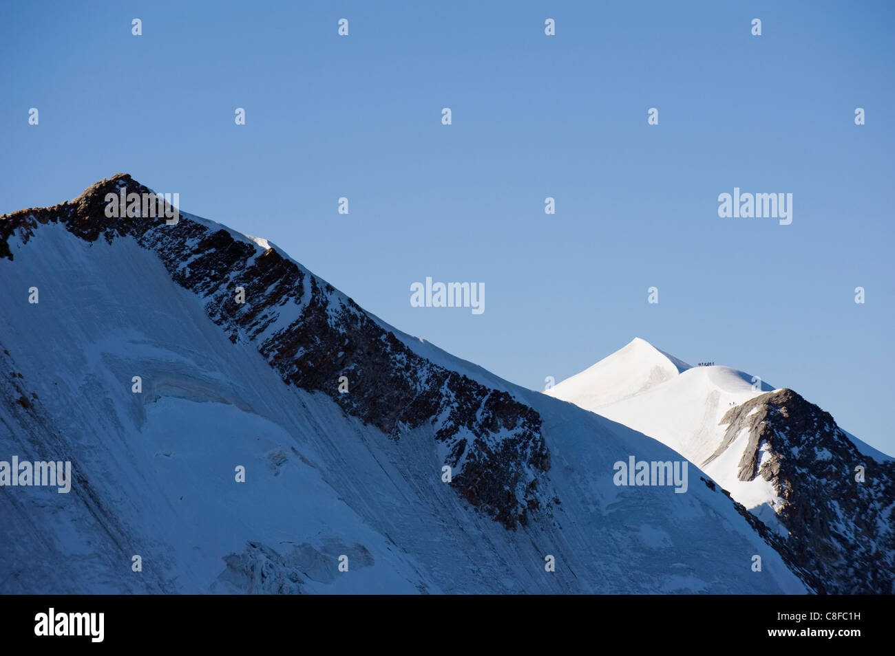 Dome de Miage, French Alps, France - Stock Image