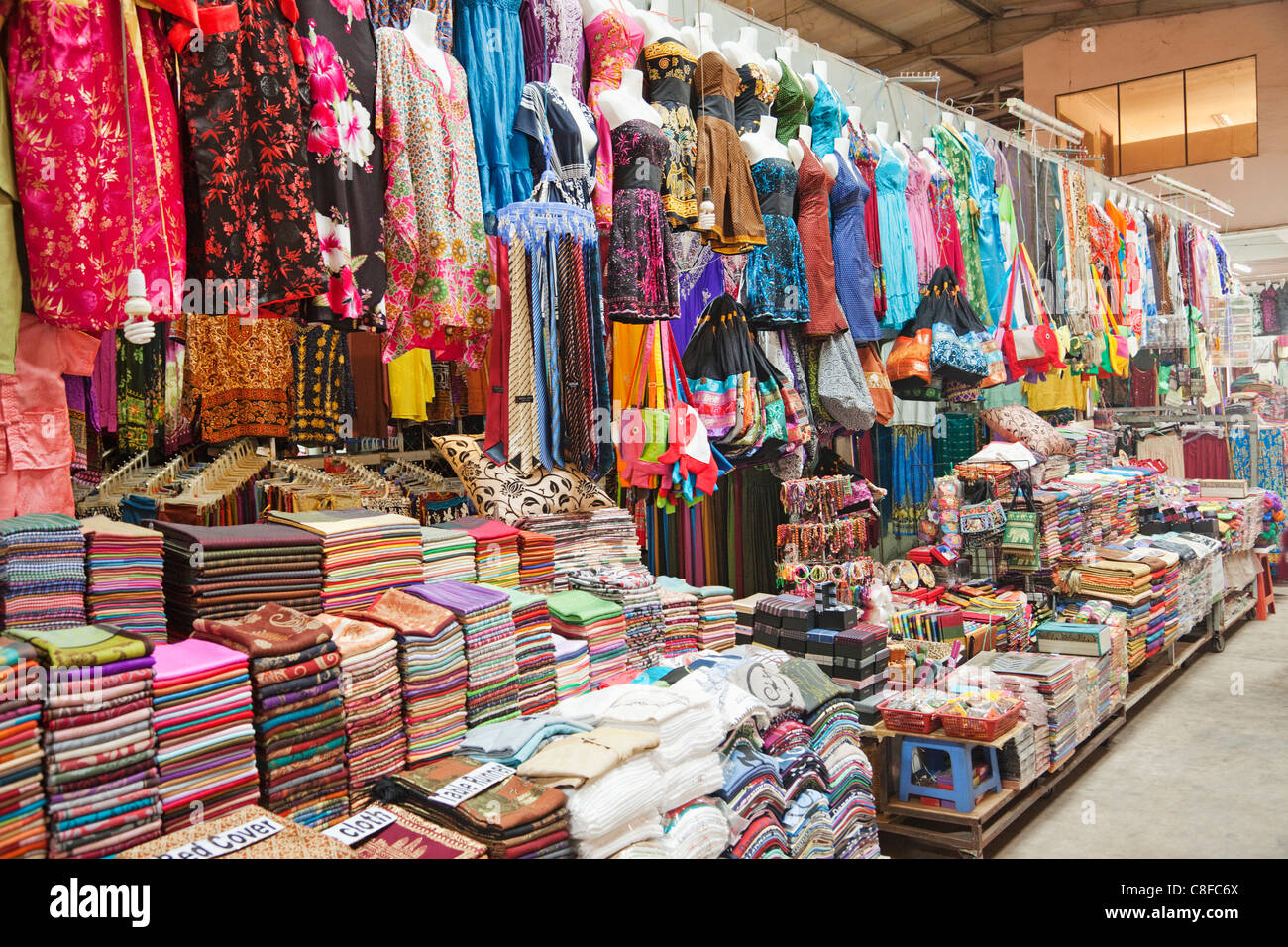 Asia Cambodia Siem Reap Material Fabrics Market Markets Shops
