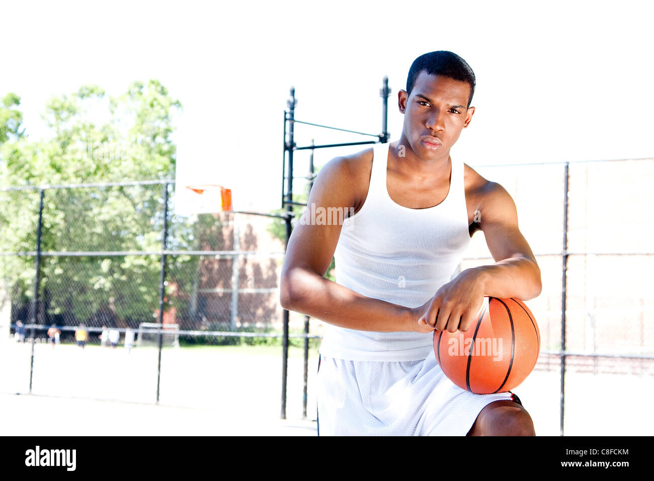 Handsome basketball player - Stock Image