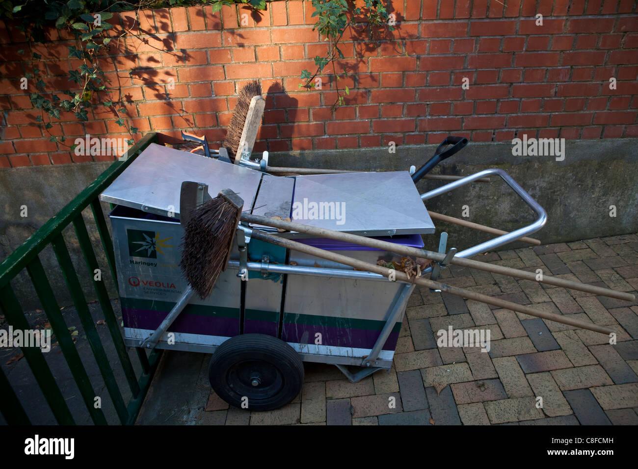 Haringey Street Cleaners Cart - Stock Image