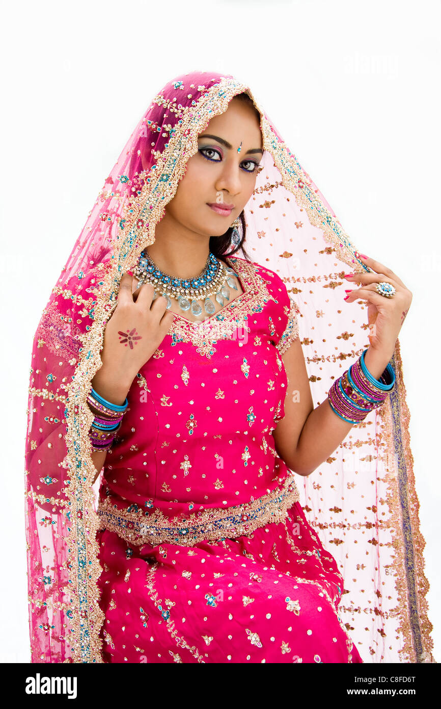 Beautiful Bangali bride - Stock Image