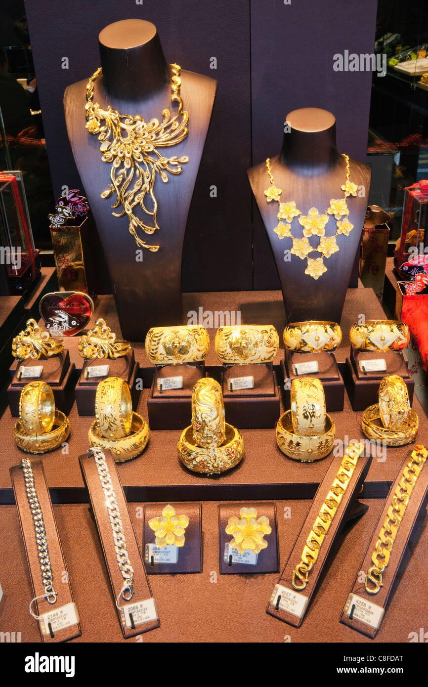 Asia China Hong Kong Hongkong Jewellery Jewels Gold Bracelet