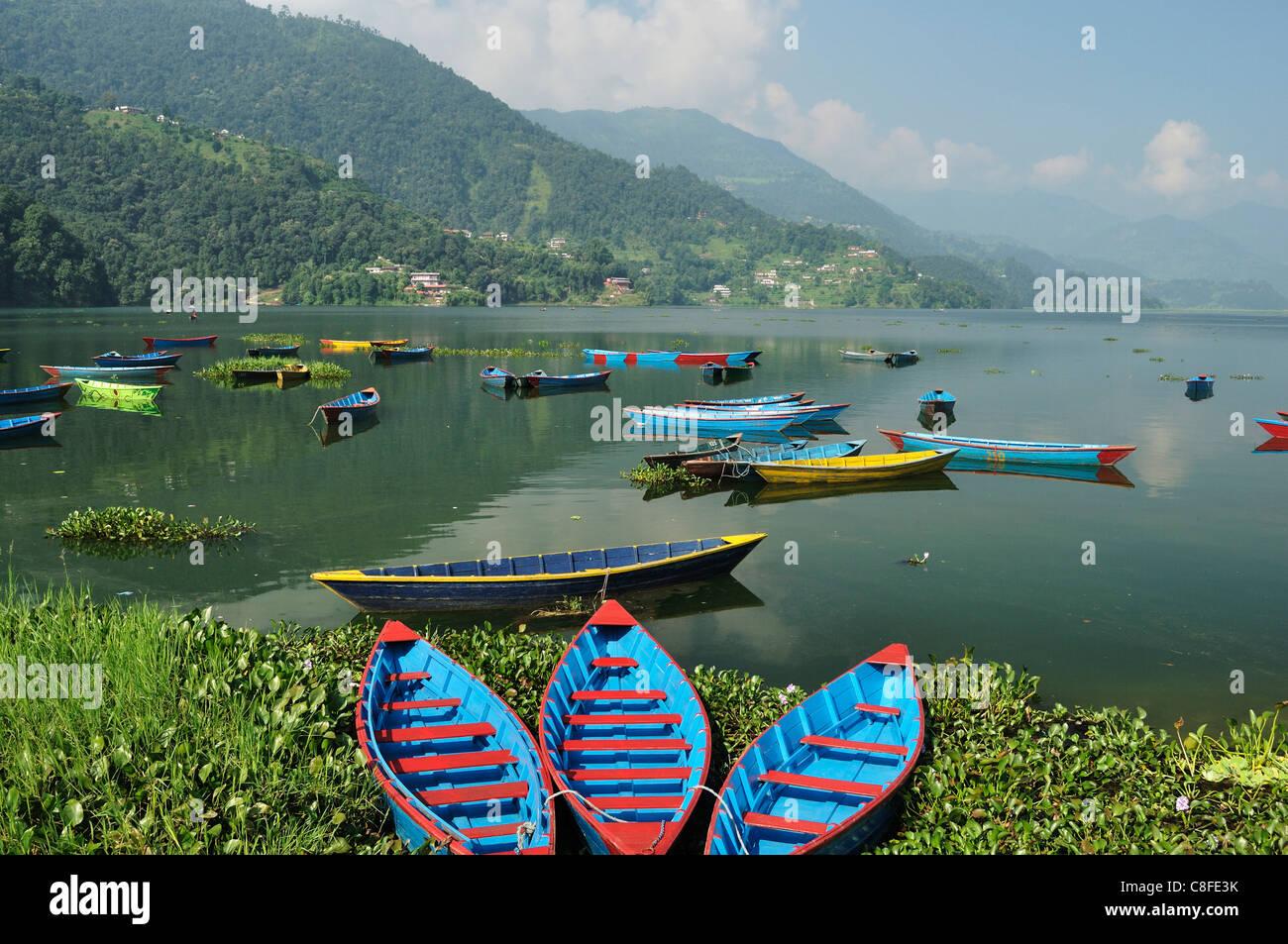 Phewa Tal (Phewa Lake, Pokhara, Gandaki, Western Region (Pashchimanchal, Nepal Stock Photo