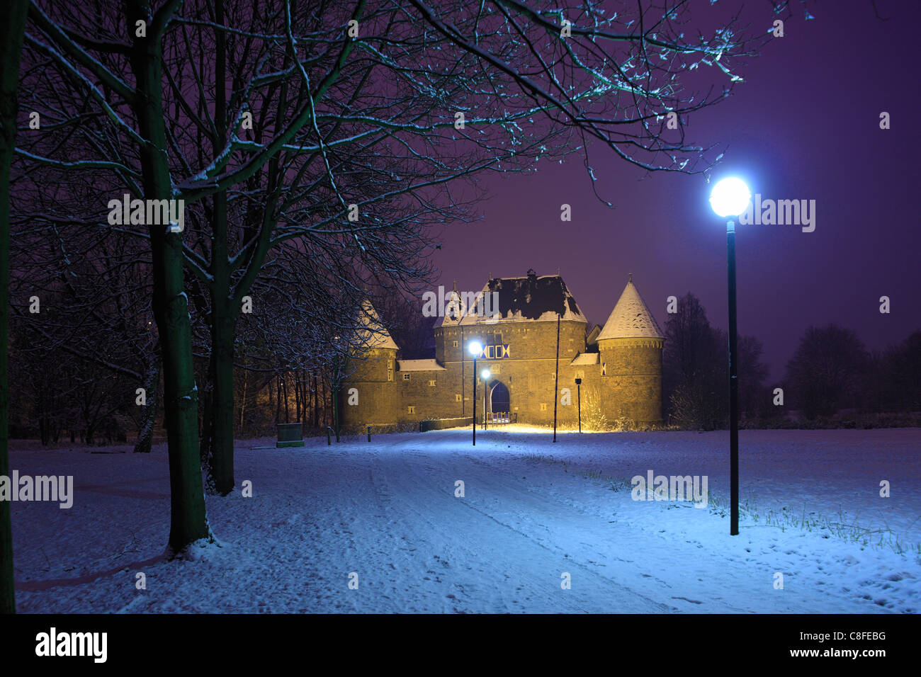Germany, Europe, Oberhausen, Ruhr area, Lower Rhine, North Rhine-Westphalia, Oberhausen-Osterfeld, castle, Vondern, Stock Photo