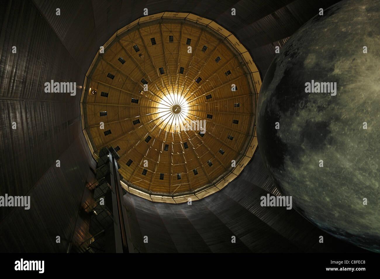 Germany, Europe, Oberhausen, Ruhr area, Lower Rhine, North Rhine-Westphalia, exhibition hall, gasometer, stars, - Stock Image