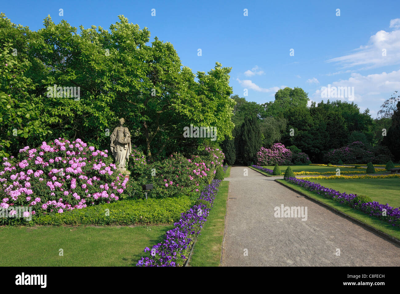 Germany, Europe, Gelsenkirchen, Ruhr area, North Rhine-Westphalia, Bür, castle, mountains, moated castle, hotel, - Stock Image