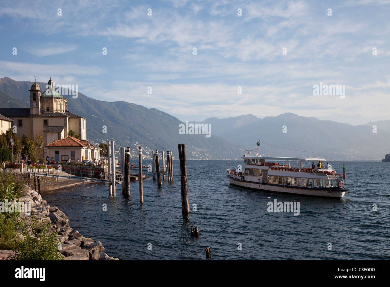 Cannobio, Lake Maggiore, Italian Lakes, Piedmont, Italy - Stock Image